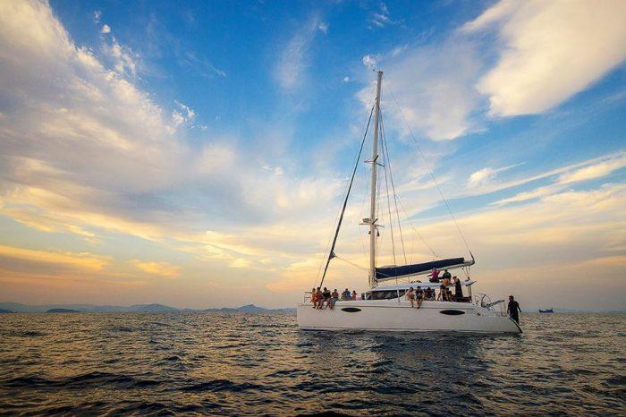 マイトン島サンセット(カタマランボート利用)