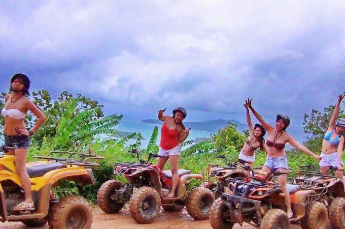 プーケット ATV バギー1時間30分+象乗り1時間、フィッシュスパ (ラワイ地区)